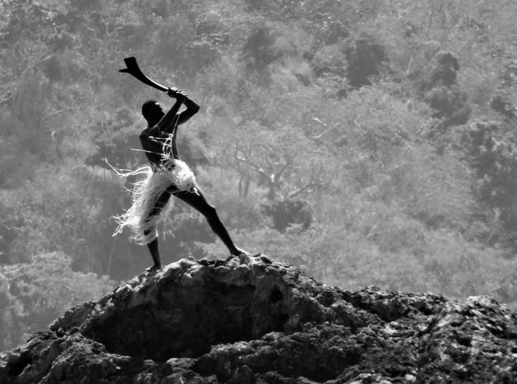 Fijianischer Möchtegern - Krieger