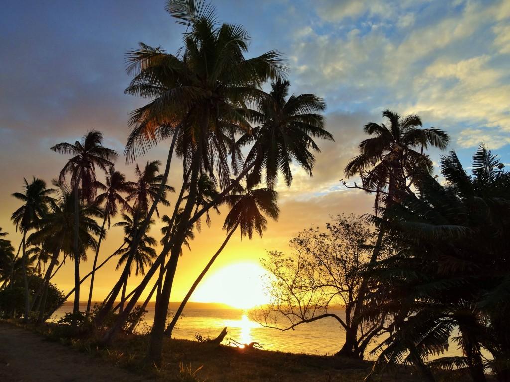 Sonnenuntergang auf der Insel Ofu
