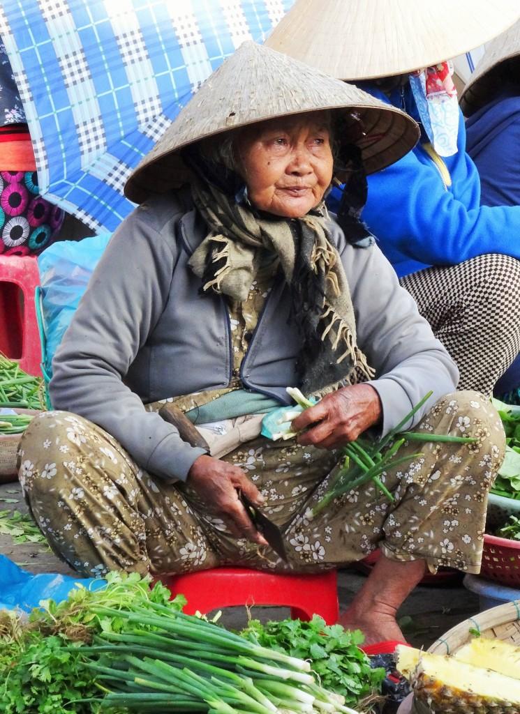 Bauernmarkt im Zentrum von Hoi An