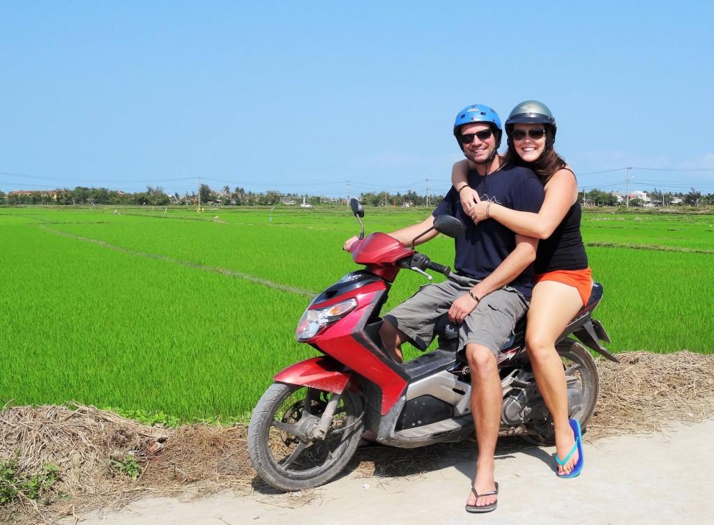 Nach der Easy Rider Tour haben wir uns später auch selbst ein Töffli gemietet...