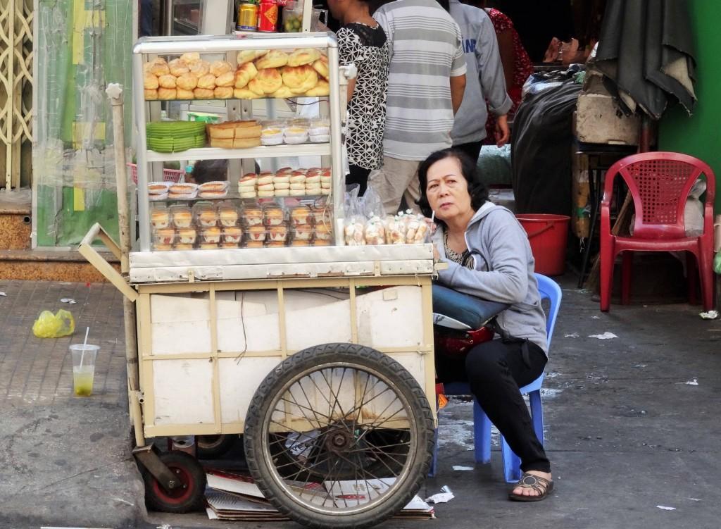Typisches Strassenbild Ho Chi Minhs