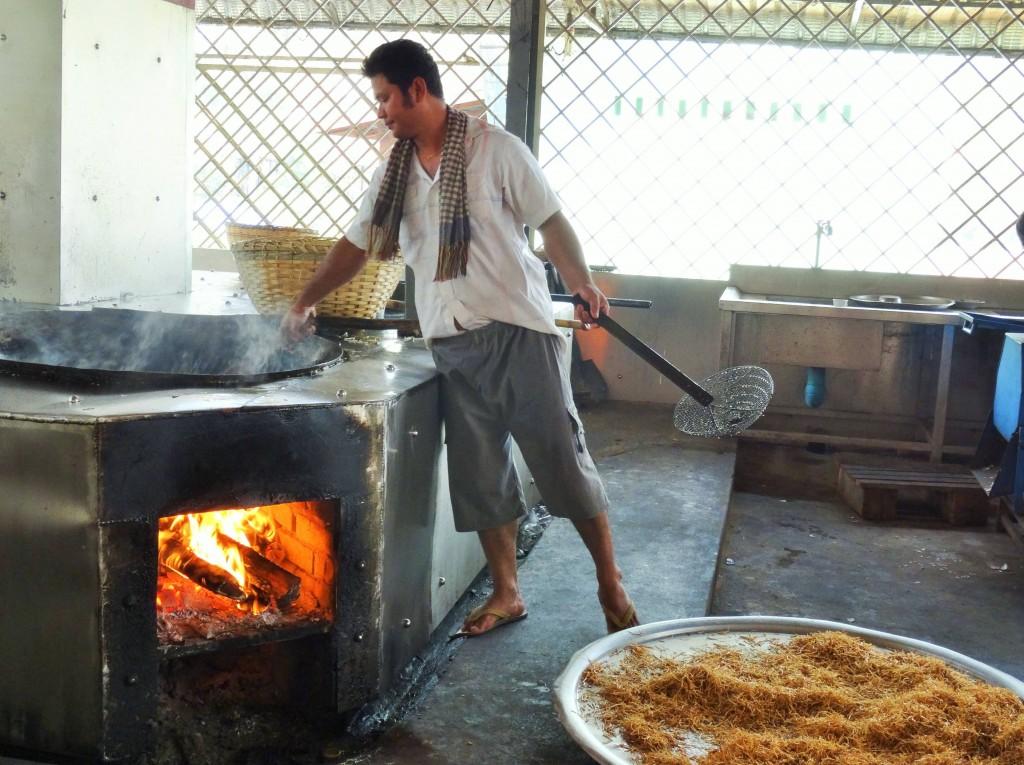 In der Küche des Klosters