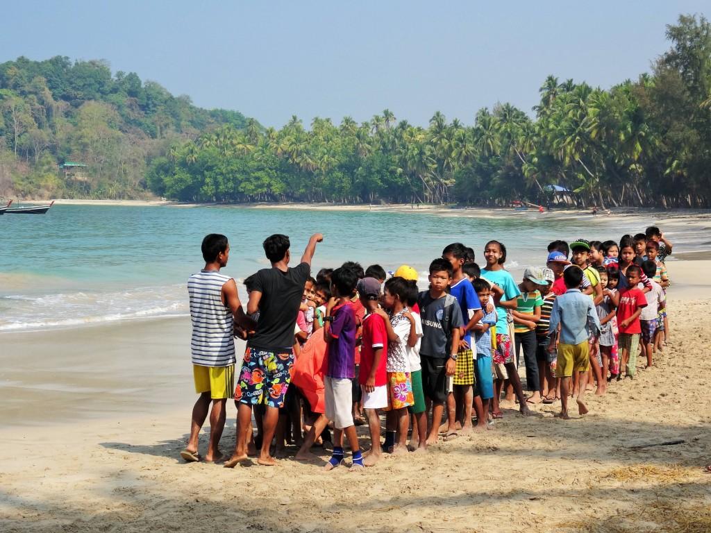Schulsporttag am Strand