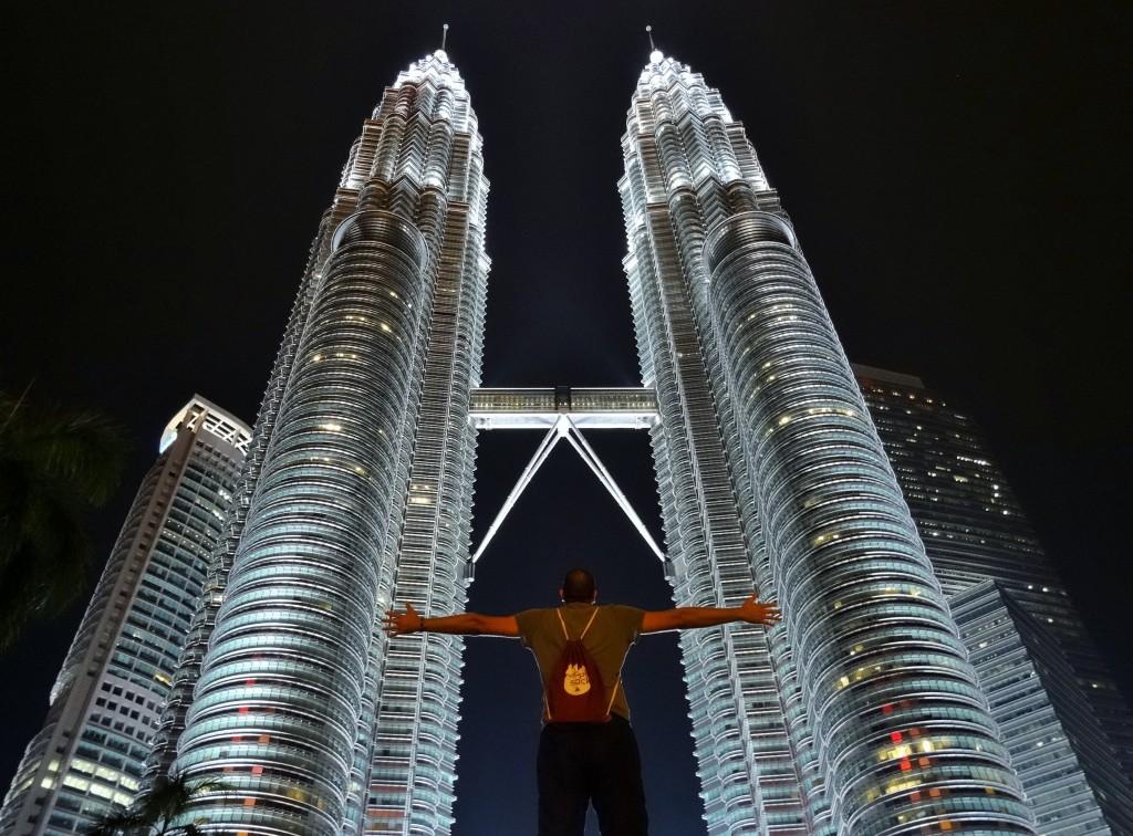 Weltbekannte Petrona Towers in Kuala Lumpur