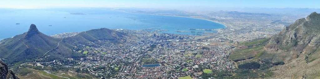Weiter Blick vom Tafelberg aus