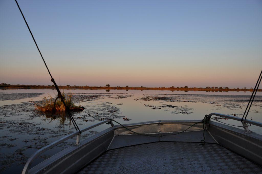 Bootsfahrt auf dem Okavango