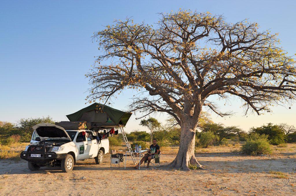 Unser Campingplatz im Schatten des Baoabs